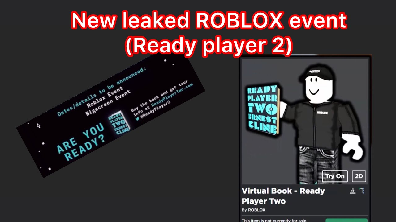 The Best Ready Player Two Roblox Event Release Date