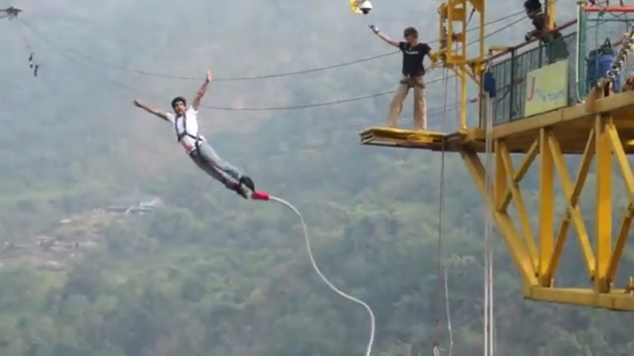 Bungee Jumping.Bungee Jumping In India Rishikesh India S Highest Bungee Jumping