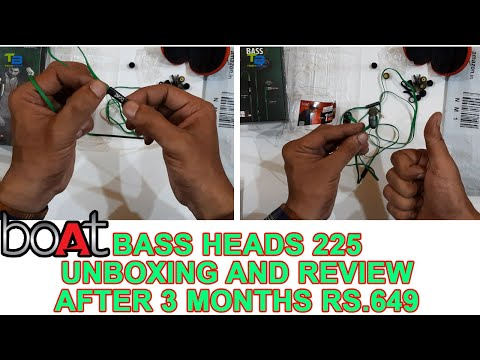 Boat Bass Heads 225 in-Ear Wired Earphones Review After 3 Months with Super Extra Bass carry case