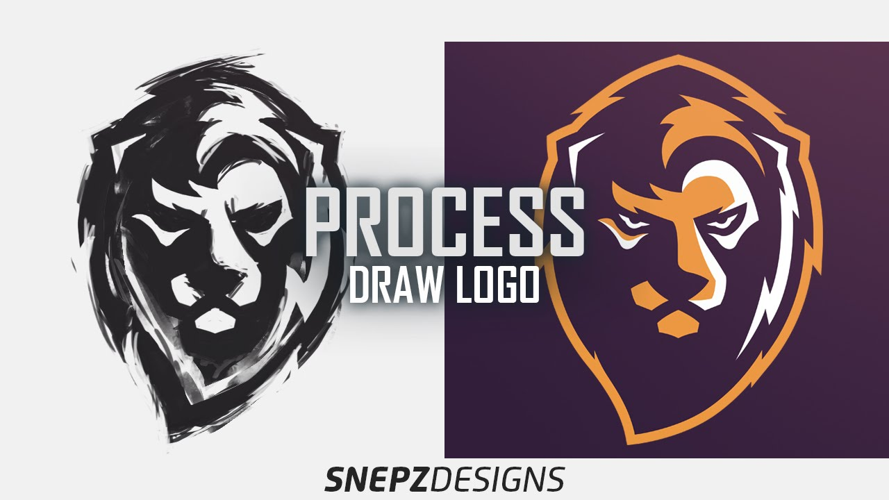 process drawing of sport logo lions gate psd youtube