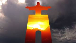 Cristo Rei and Sky. Timelapse