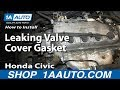 How To Replace Install Leaking Valve Cover Gasket 1.6L SOHC 1996 00 Honda Civic