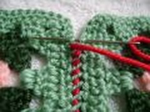 Crochet Granny Squares 1 Join With Whipstitch Seam Weave Seam