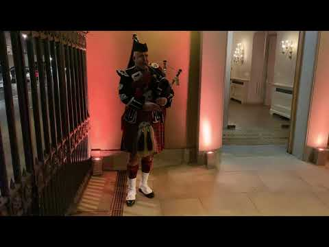 Bagpipe Welcome at Banqueting House, London