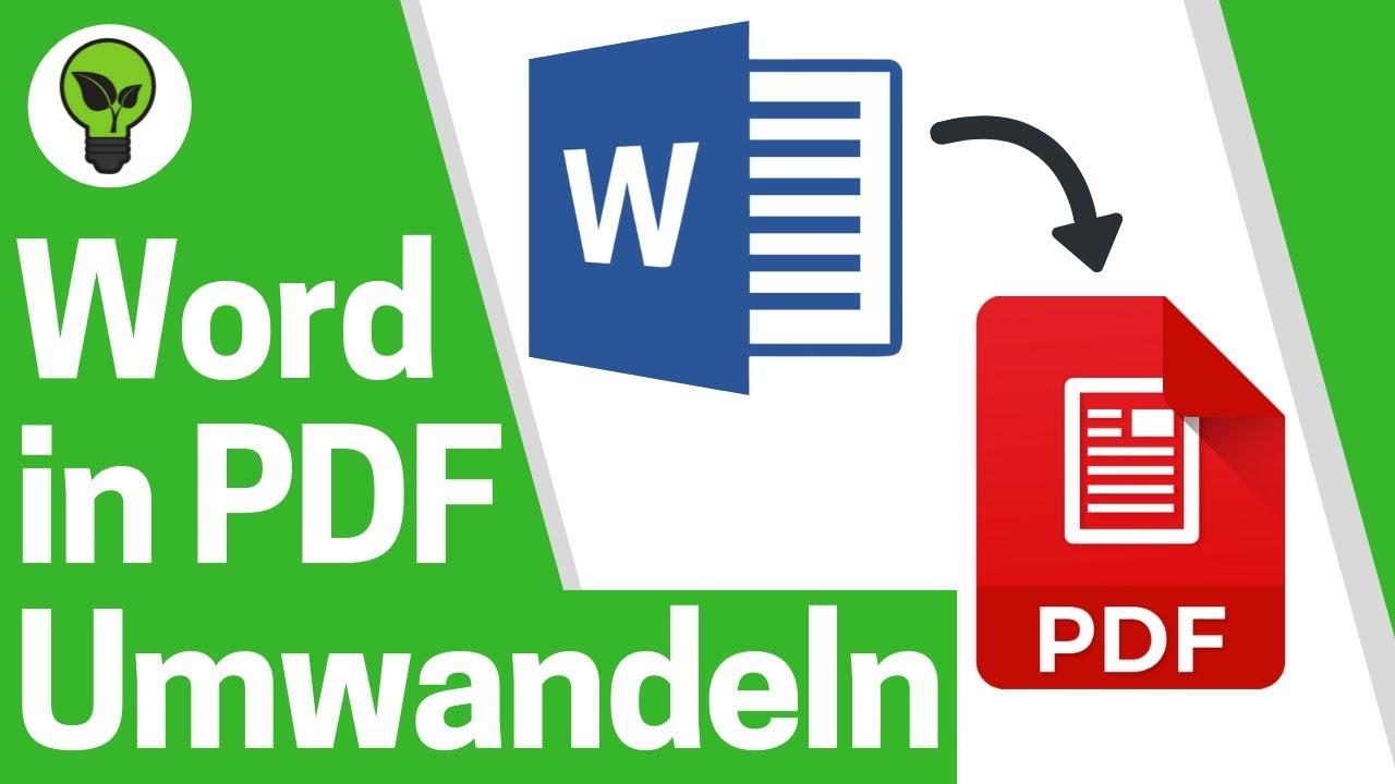 Word Datei in PDF Umwandeln ✅ ULTIMATIVE ANLEITUNG Wie Word Dokument als  PDF Speichern & Erstellen