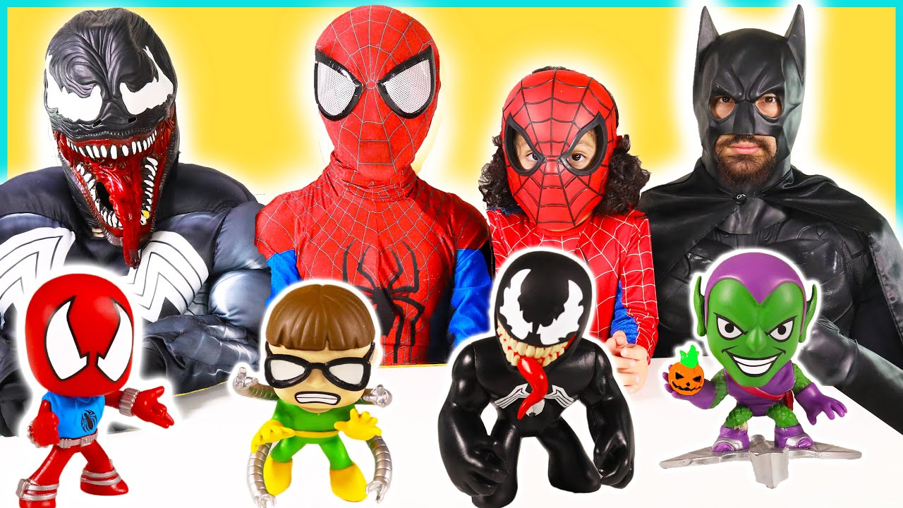 NEW Spiderman Toys for Kids Toy Review with Batman Venom ...