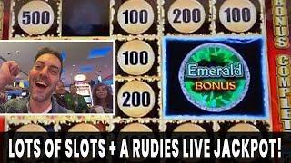 🏁 RUDIES GET A JACKPOT! 💎 HAND PAY on Lava Queen Bonus 🌋 Filmed LIVE w/ The Rudies! 🎉
