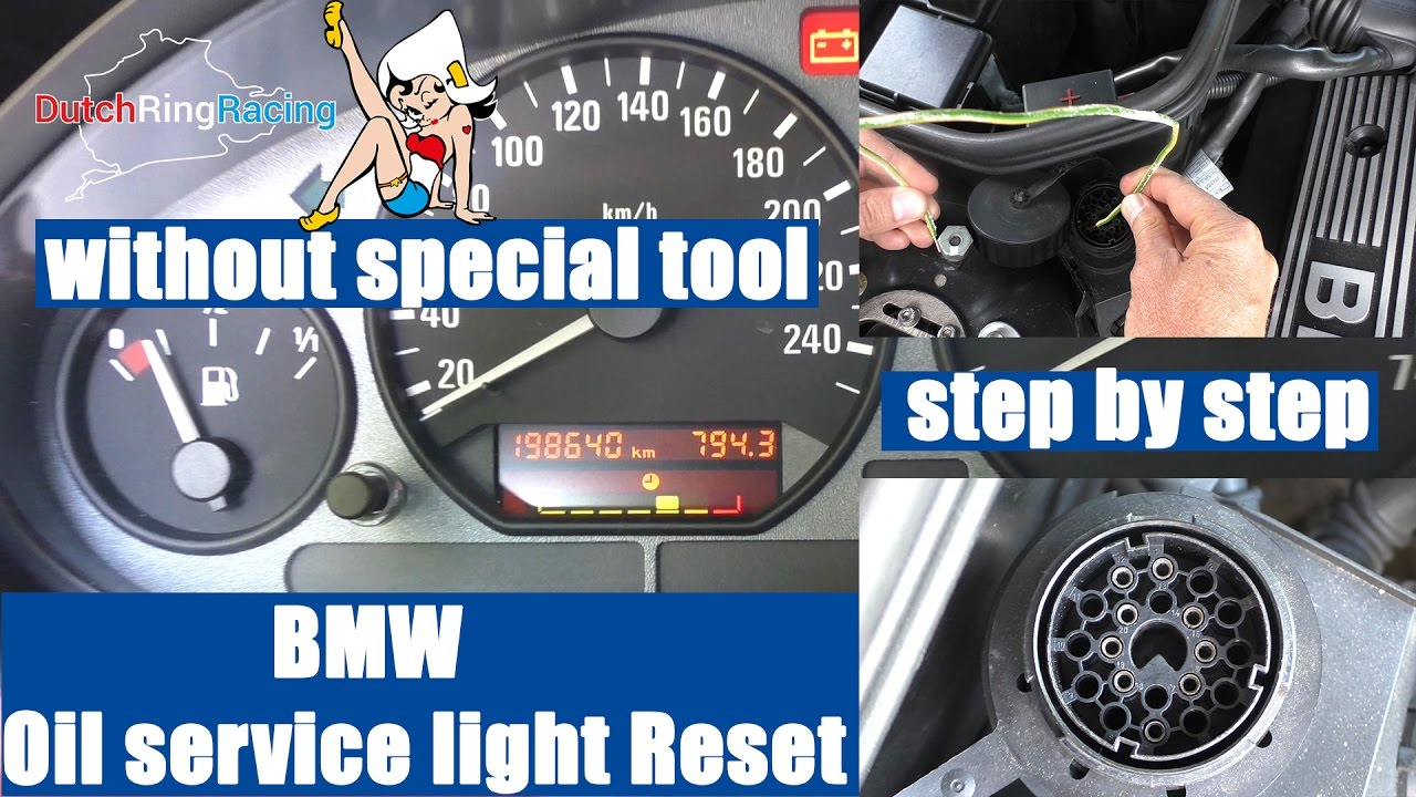 How To Reset Bmw Oil Service Light Without Special Tool E30 E34 1994 325i Engine Diagram E36 E39 Z3 X5 M5