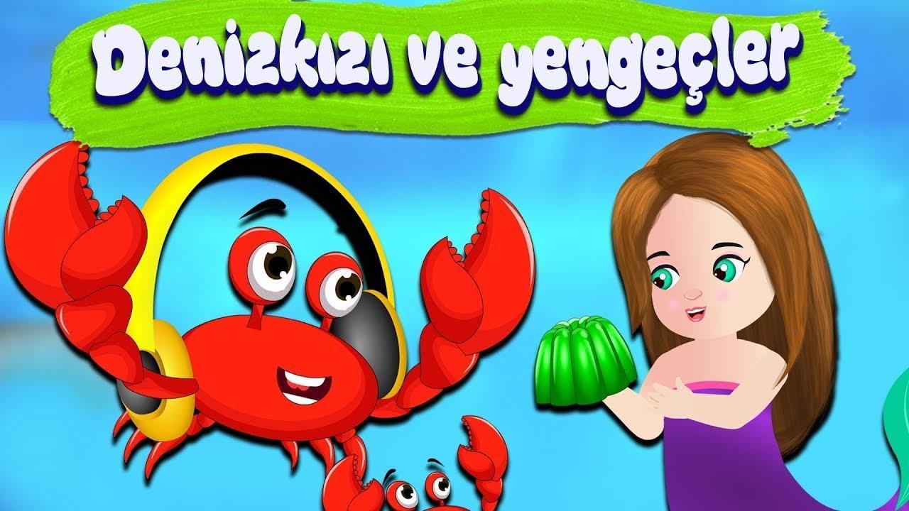 Peri Masalları | The Mermaid Story in Turkish | Deniz kızı çizgi film | Yengeçler | Turkish Tale
