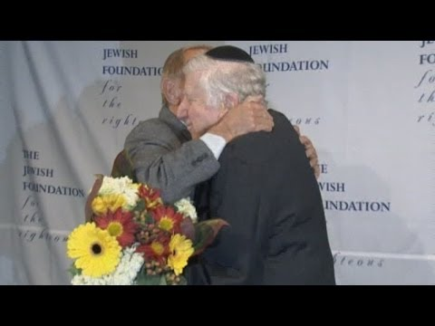 Holocaust survivor finally meets man who saved him from the Nazis