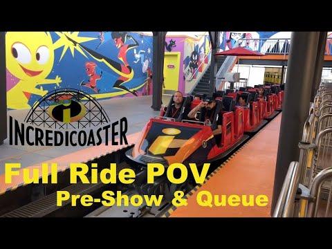 The Incredicoaster, PIXAR Pier at Disney California Adventure (Full Queue, Pre-Show, Ride POV)