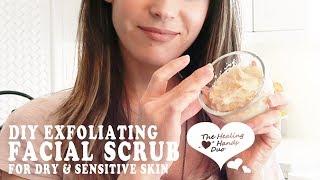 DIY Exfoliating Facial Scrub For Dry & Sensitive Skin l Coconut Oil, Baking Soda & Honey