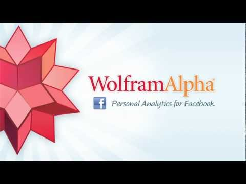 Wolfram|Alpha Personal Analytics for Facebook
