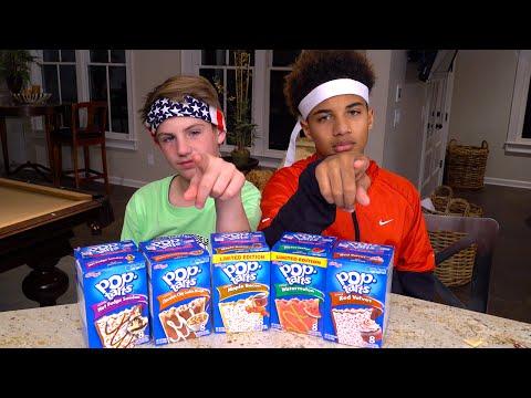Pop Tart Challenge!  (MattyBRaps Vs Justin)