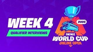 Fortnite World Cup - Week 4 Qualifier Interviews