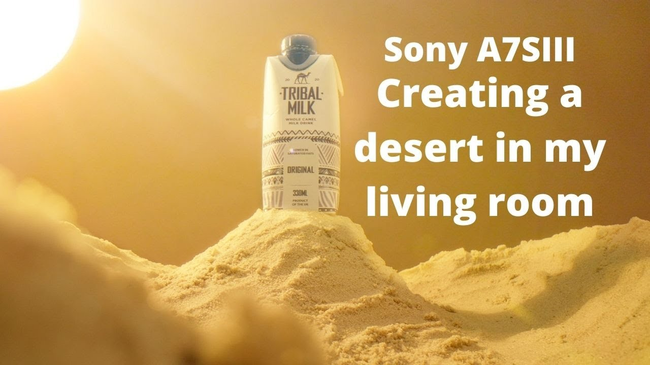 Product video with a Sony A7SIII - Creating a desert for Tribal Milk