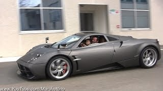 Pagani Test Driver takes his son on a joy ride