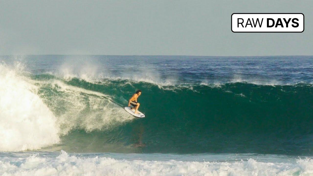 RAW DAYS | Desert Point, Indonesia | 20-second left-hander barrel rides