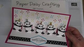Stampin' Up! Party Pandas Pop Up card