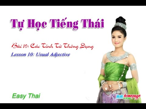 Giáo trình Thai for beginners bài 10