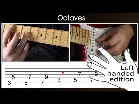 Octaves and what is an octave for LEFT HANDED guitar