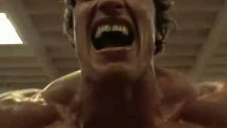 Arnold Schwarzenegger Working out Pumping Iron and Flexing Lots-O Muscle