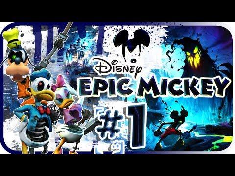 Disney Epic Mickey Walkthrough Part 1 (Wii) Intro - Dark Beauty Castle [No Commentary]