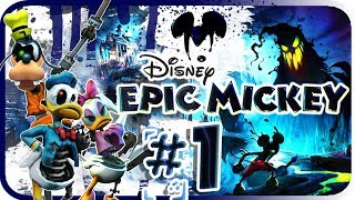 Disney Epic Mickey Walkthrough Part 1 (Wii) Intro - Dark Beauty Castle [No Commentary]