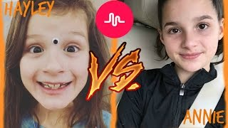 Annie VS Hayley Musical.ly
