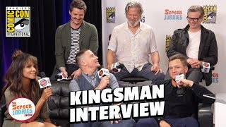 Kingsman 2 Cast Spills Secrets   LIVE in Studio (SDCC 2017)