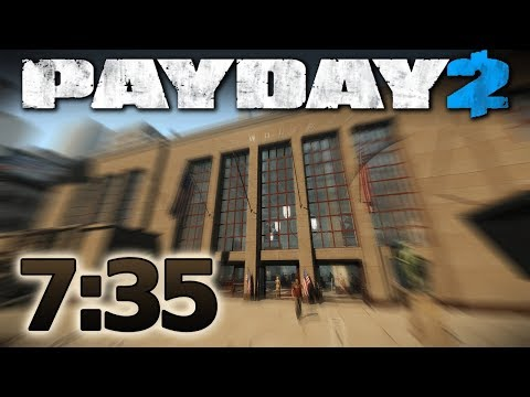 PAYDAY 2 - First World Bank - Speedrun 7:35 m [Solo - Death