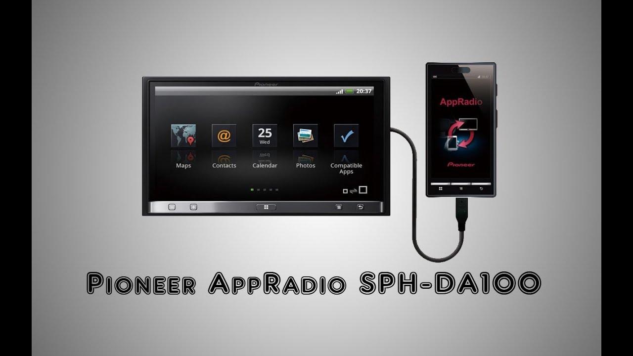 medium resolution of pioneer appradio sph da100 pioneer app radio wiring diagram