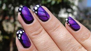 Летний маникюр. Бабочки на ногтях(Бабочки ассоциируются с летом. Бабочки, такие красивые, воздушные, волшебные. А бабочки на ногтях - и прекрас..., 2014-08-10T15:28:43.000Z)