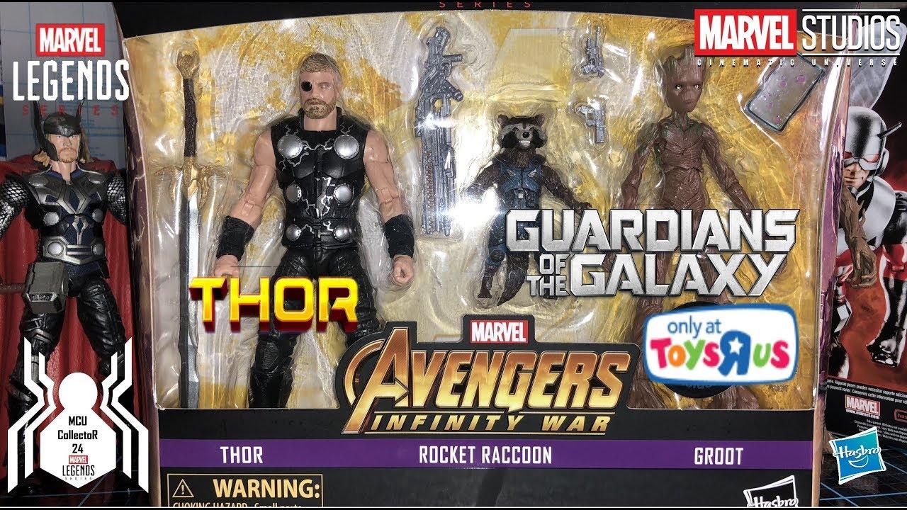 "Marvel Legends 6/"" Inch Toys R Us TRU 3-Pack Inifinty War Thor Loose Complete"
