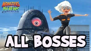 Monsters VS Aliens All Bosses | Final Boss (PS3, X360, Wii, PS2)