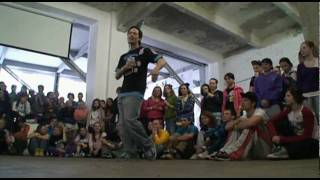 Popping dance battle: Dragon vs Tension