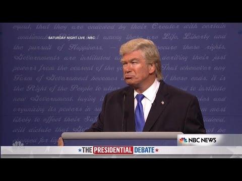Alec Baldwin Makes His Debut as Donald Trump on SNL