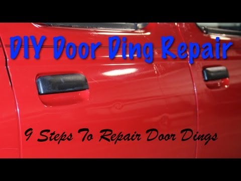 DIY Door Ding Repair - 9 Steps How To Repair Dings Yourself Using Glaze Putty