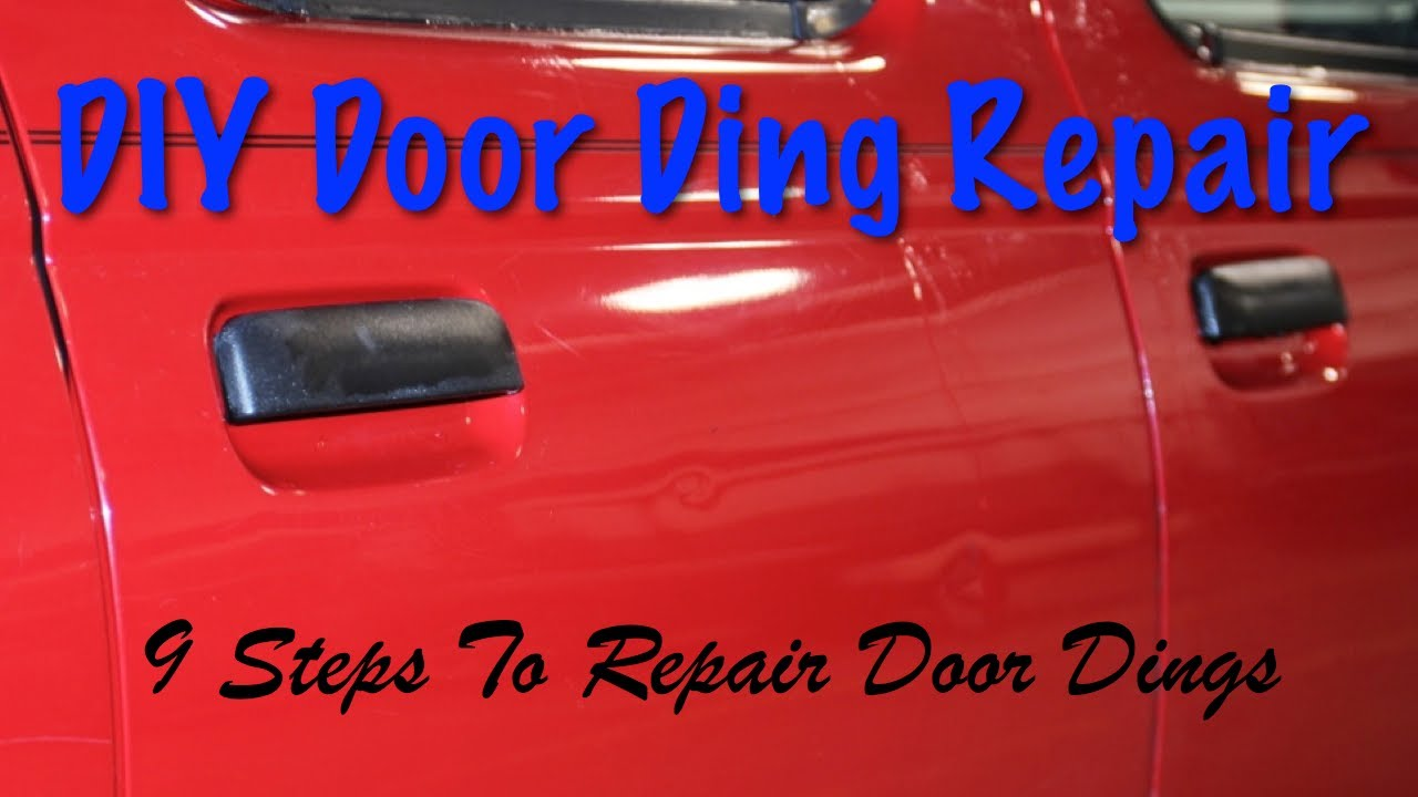 Diy Door Ding Repair 9 Steps How To Repair Dings