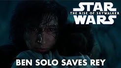 Star Wars The Rise of Skywalker Ben Solo Saves Rey Full Scene