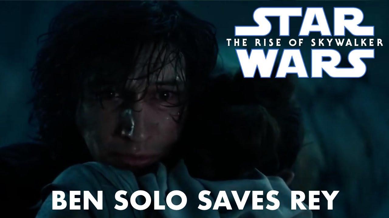 Star Wars The Rise Of Skywalker Ben Solo Saves Rey Full Scene Youtube