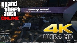 GTA 5 Online Lowest Parachute Challenge Freemode Event Gameplay 4K 60fps