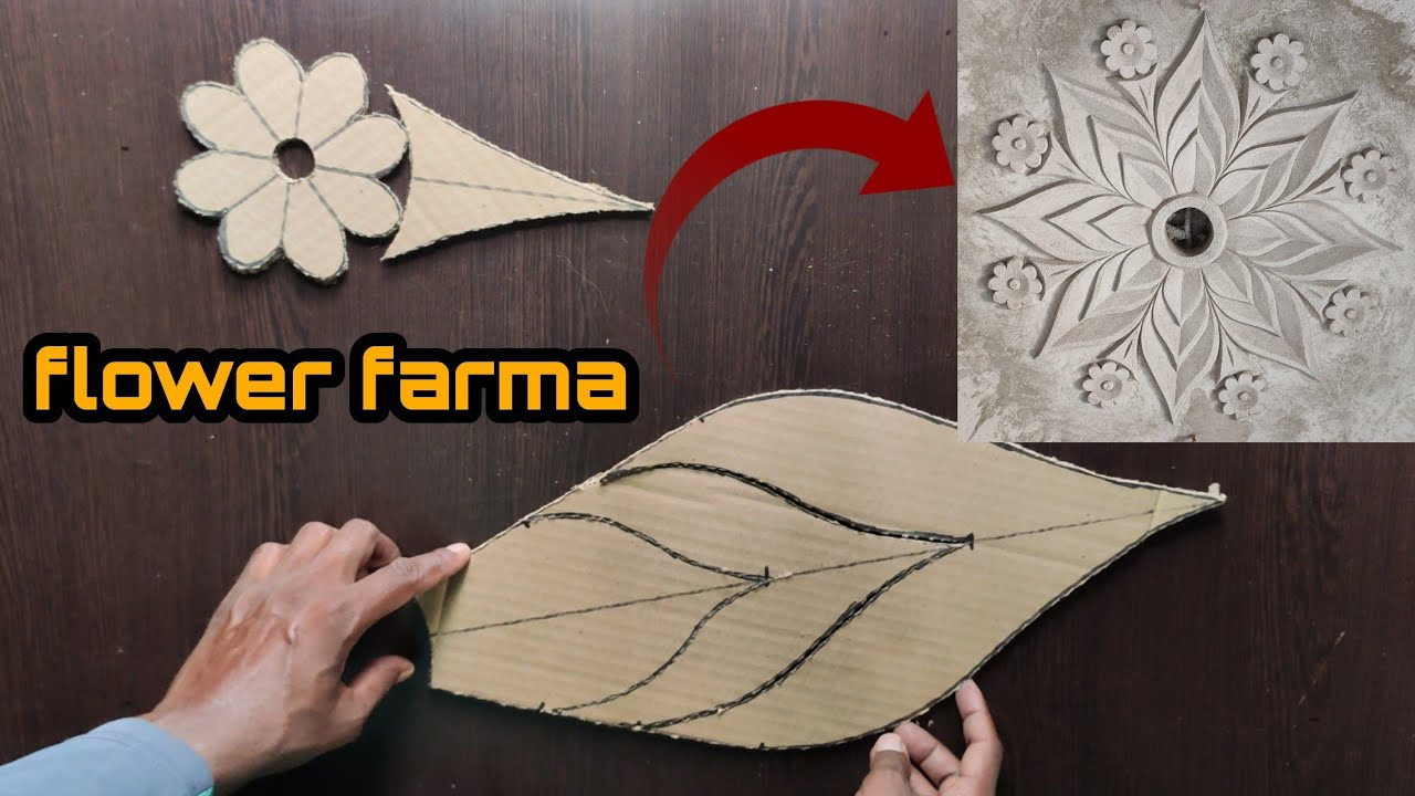 Ceiling flower. How to make a flower farma. Flower farma banane ka aasan tarika. by- Rakesh Babu
