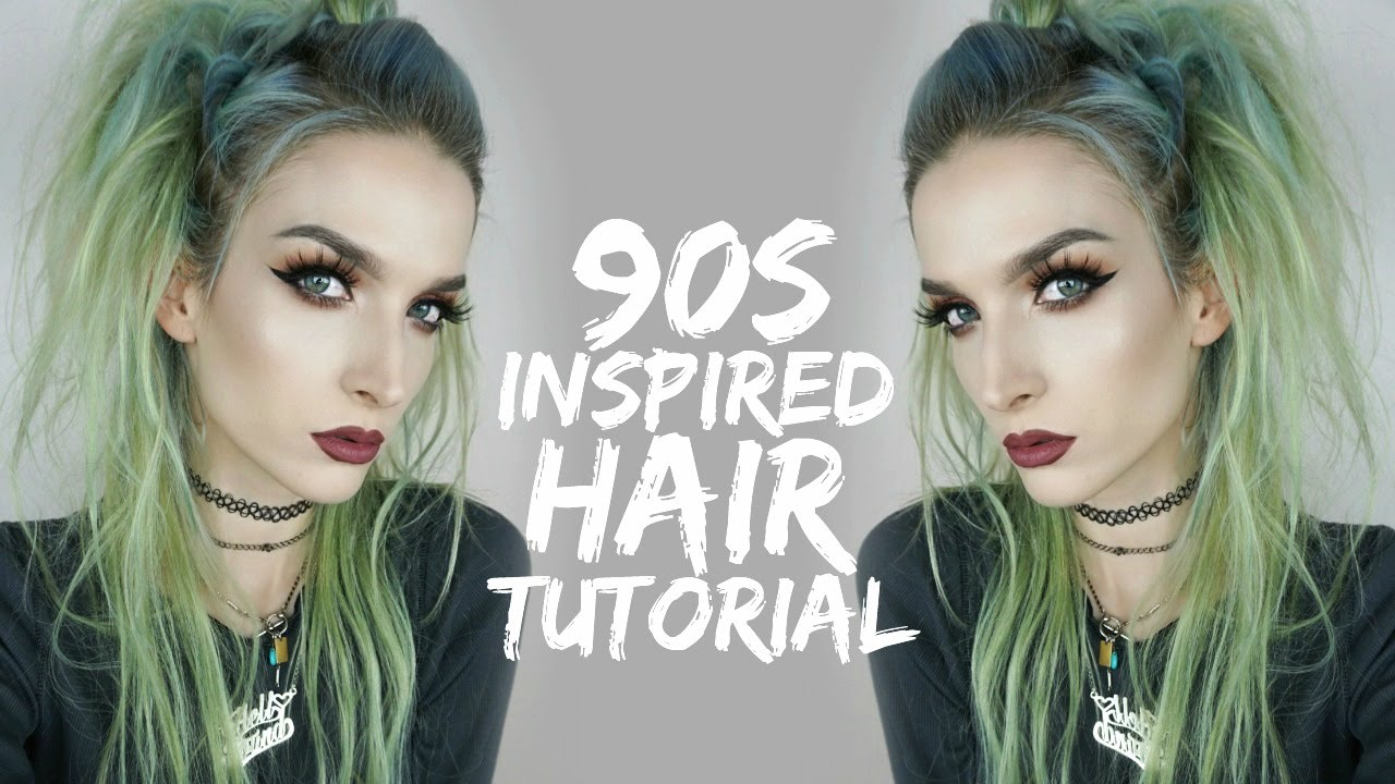 90s Inspired Twisty Hair Tutorial Grunge Hair Hair Tutorial Goth Hair