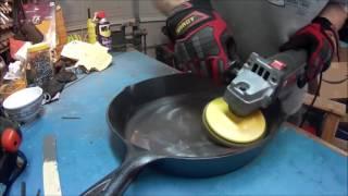 Lodge Cast Iron pan prepare.