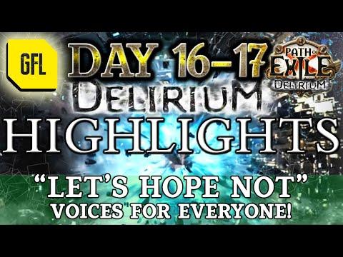 "Path of Exile 3.10: DELIRIUM DAY #16-17 Highlights ""LET'S HOPE NOT"", @Zenocide Genius RETURN.. KINDA"