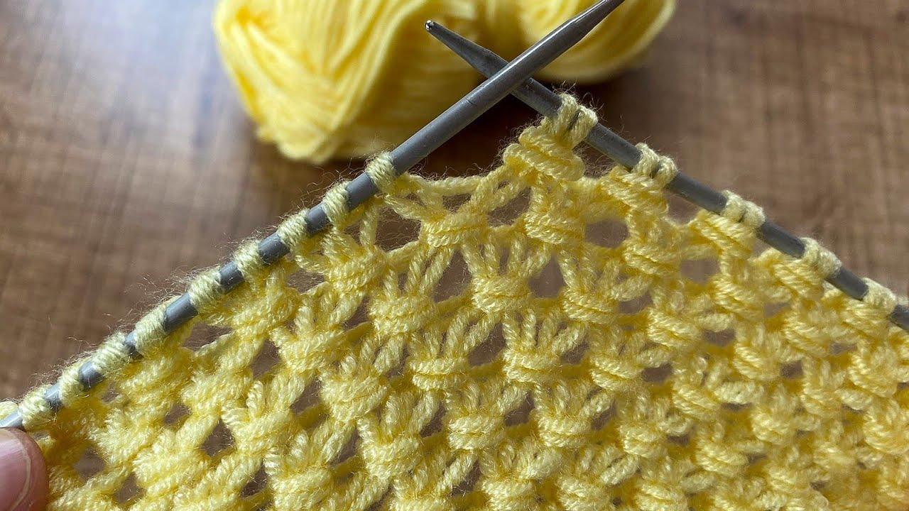 How to Knit Stich 🥰- iki şiş cok kolay örgü modeline bayılacaksınız