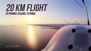 Mini Talon Fpv - 20km to Island and back   Long range flight   Estonia