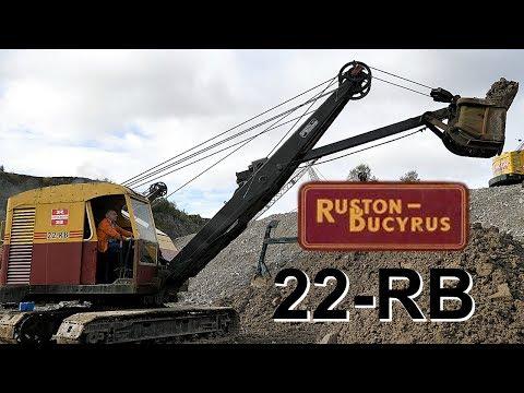 Ruston Bucyrus 22-RB shovel working