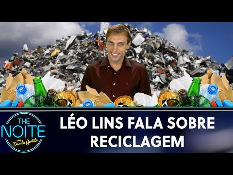 Léo Lins fala sobre reciclagem   The Noite 210519